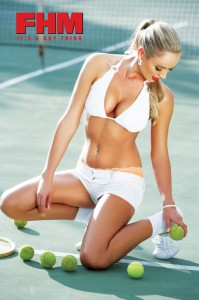 Adele Segal fhm shoot tennis court