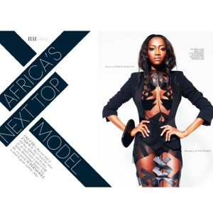 Oluchi Elle Magazine Africa's Next Top Model