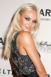 Candice Swanepoel platinum blond Victoria Secret model
