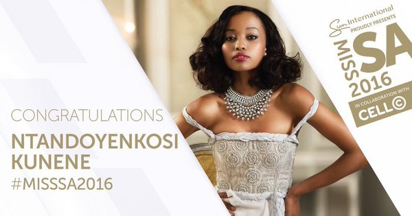 Ntandoyenkosi Kunene Miss South Africa 2016
